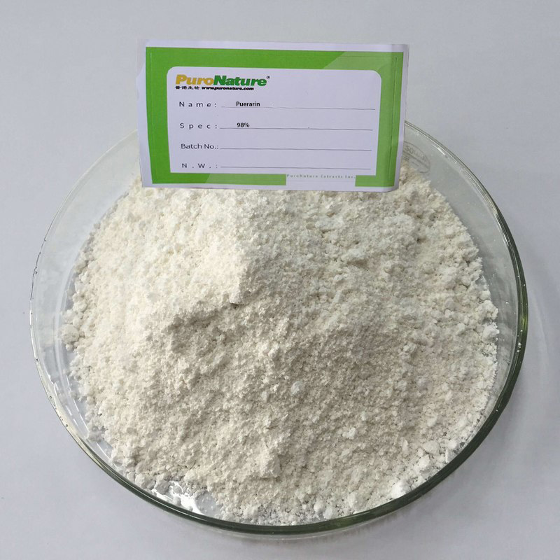 Pueraria extract powder sorces kudzuvine root Radix Puerariae active ingredient Puerarin cas 3681-99-0 Nutritional Supplements