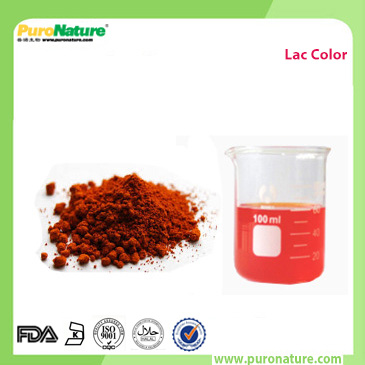 Lac extract botanical color
