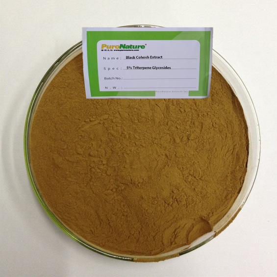 Black Cohosh Extract Actaea Racemosa Cimicifugae Racemosae Rhizome root powder Triterpene Glycosides cas 84776-26-1